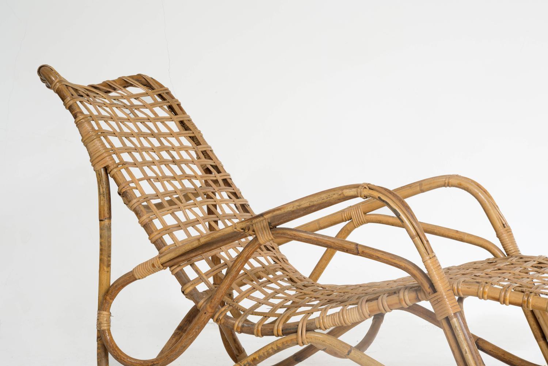 Vittorio bonacina rattan chaise longue for sale at 1stdibs for Chaise longue rattan sintetico