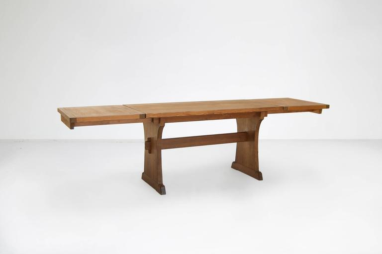 Axel Einar Hjorth Extendable Dining Table Manufactured by Nordiska Kompaniet 2