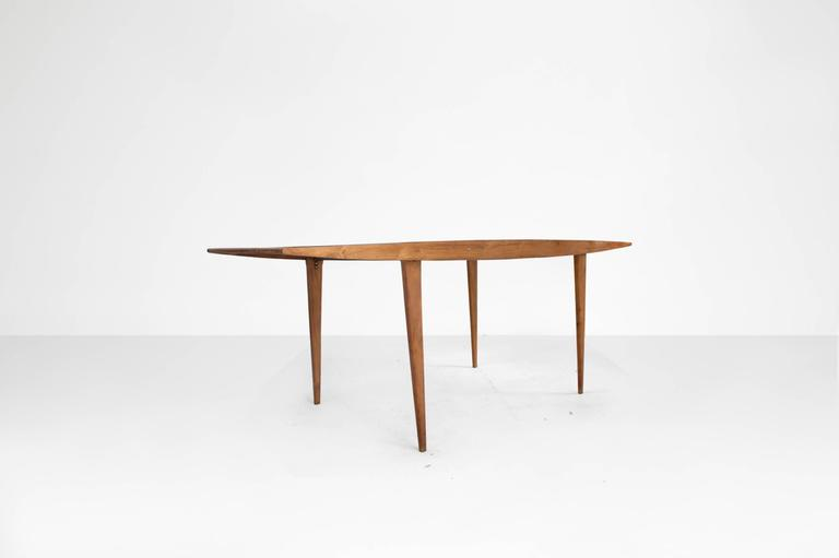 Mid-Century Modern Martin Eisler & Carlos Hauner Dining Table, Manufactured by Forma, Brazil, 1950 For Sale