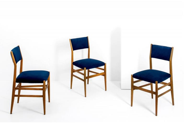 Gio Ponti (1891-1979)  Set of four dining chairs, model