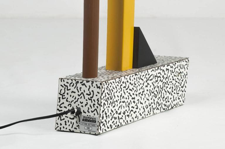 "Post-Modern Ettore Sottsass, Table Lamp Model ""Tahiti"", Milano, 1981 For Sale"