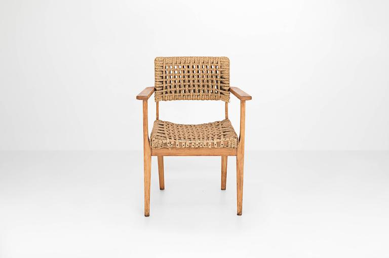 Mid-Century Modern Adrian & Frida Audoux-Minet, Dining Chair, France, 1960 For Sale