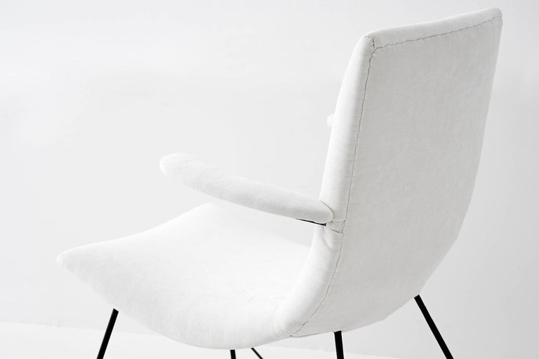 Mid-Century Modern Martin Eisler & Carlo Hauner, Pair of Lounge Chairs, Brazil, 1950s For Sale