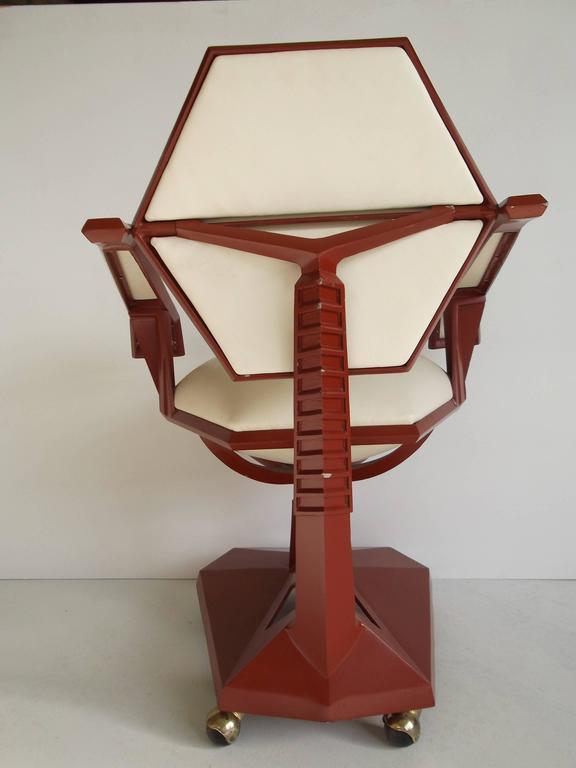 Frank Lloyd Wright Price Tower Secretary Armchair 1955