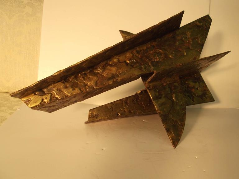 Jay McVicker Modern Art Abstract Bronzed Steel Sculpture For Sale 1
