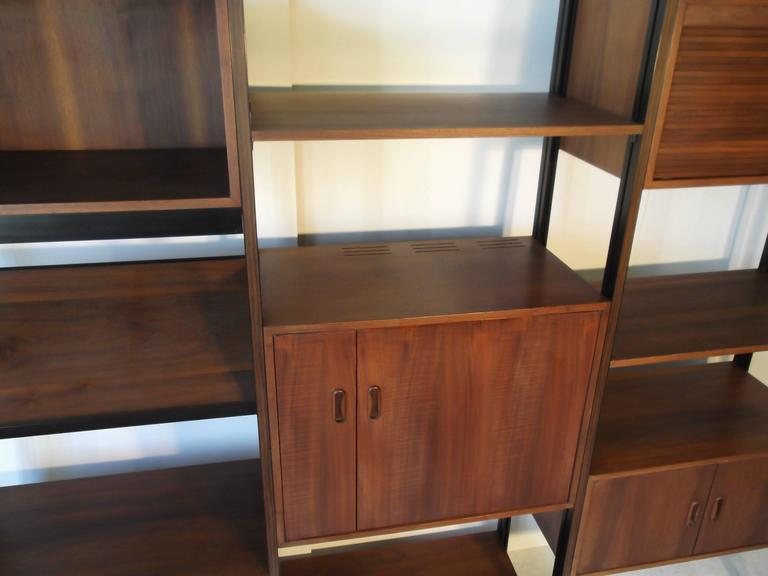 Fantastic Walnut George Nelson Omni Storage Wall Unit CSS In Excellent Condition For Sale In Tulsa, OK