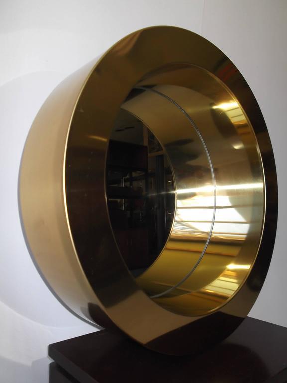 1970s C Jere Brass Porthole Circular Wall Mirror At 1stdibs