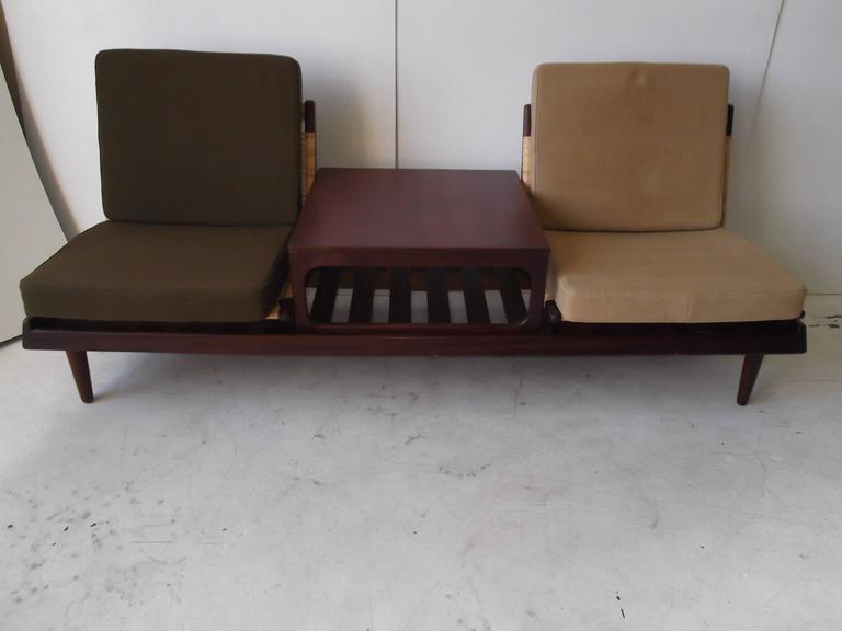 Hans olsen danish modern modular teak sofa bed at 1stdibs for Danish modern sofa bed