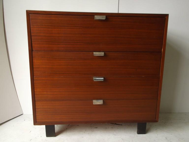 Mid Century Modern 1950s Herman Miller George Nelson Secretary Desk Dresser Walnut For