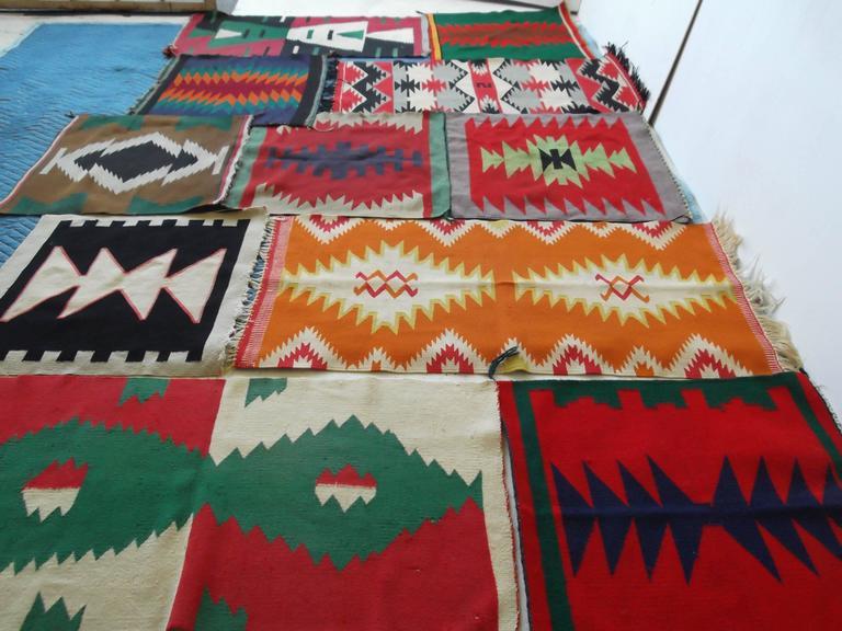 11 Antique Germantown Navajo Native American Indian Sampler Rug Weavings For Sale 1