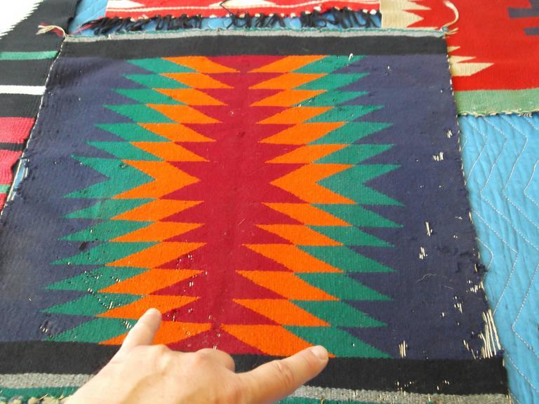 11 Antique Germantown Navajo Native American Indian Sampler Rug Weavings For Sale 3