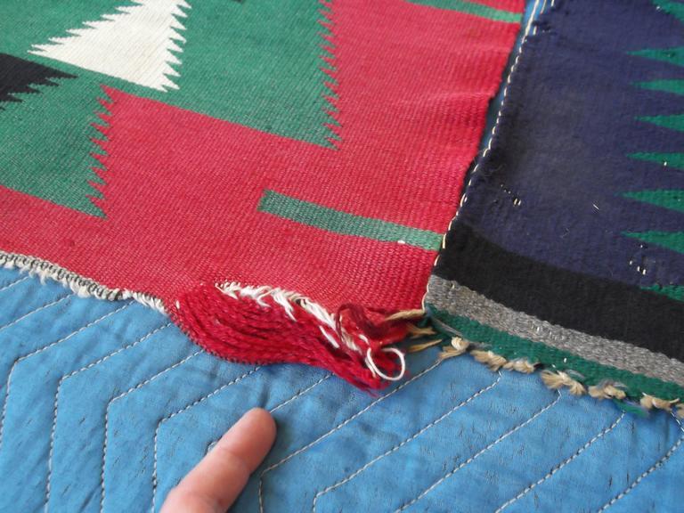 11 Antique Germantown Navajo Native American Indian Sampler Rug Weavings For Sale 2