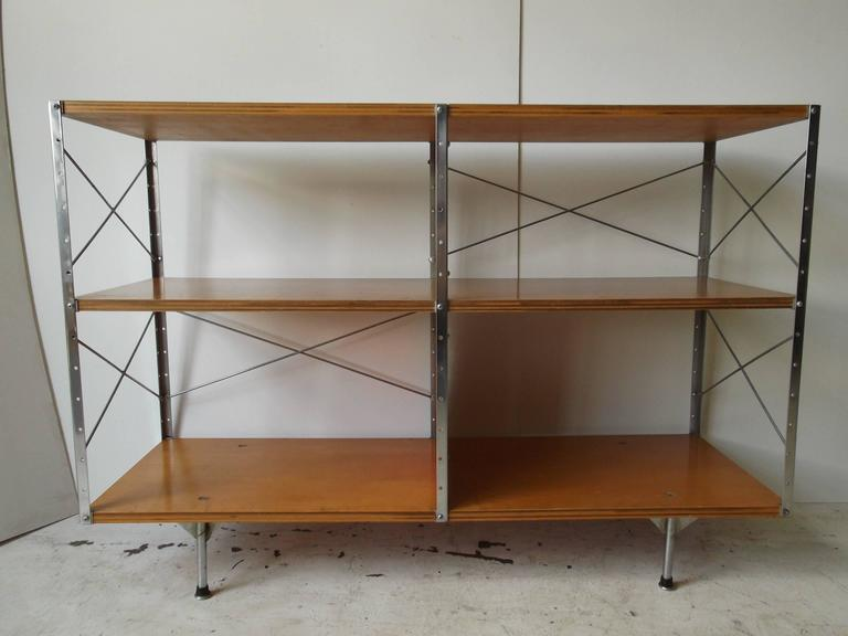 American Original 1950s Charles Eames ESU Storage Unit Shelf for Herman Miller For Sale