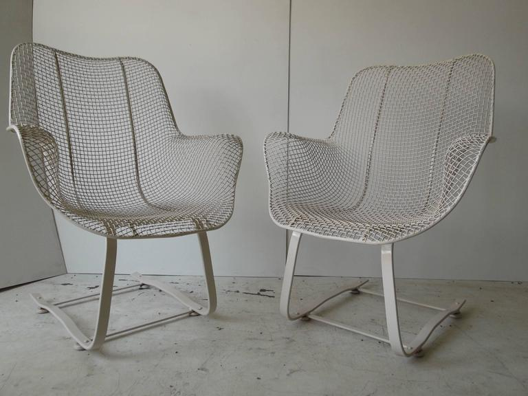 This Is A Very Hard To Find Pair Of Woodard Sculptura Lounge Chairs. They  Are