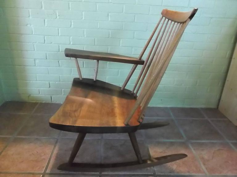 George Nakashima Live-Edge Paddle Arm Rocking Chair 6