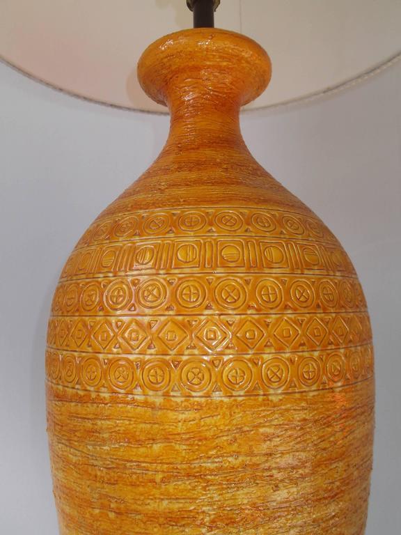 Bitossi for Raymor 1950s Tall Italian Pottery Table Lamp 3