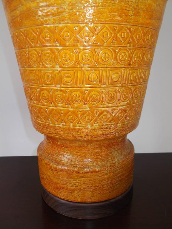 Bitossi for Raymor 1950s Tall Italian Pottery Table Lamp 5