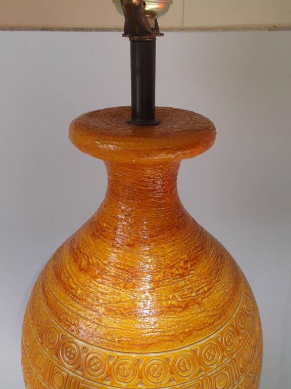 Bitossi for Raymor 1950s Tall Italian Pottery Table Lamp 4