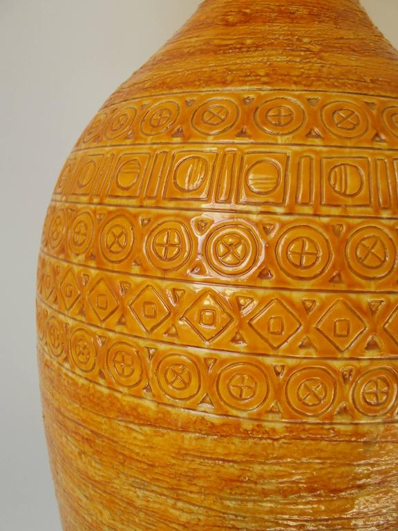 Bitossi for Raymor 1950s Tall Italian Pottery Table Lamp 6