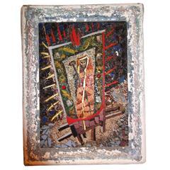 Rare 1950s Louisa Jenkins Famed California Artist Mosaic Saint