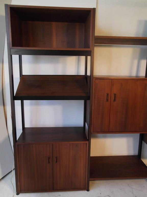 American Fantastic Walnut George Nelson Omni Storage Wall Unit CSS For Sale