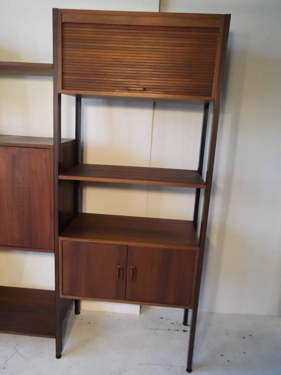 Fantastic Walnut George Nelson Omni Storage Wall Unit CSS For Sale 1