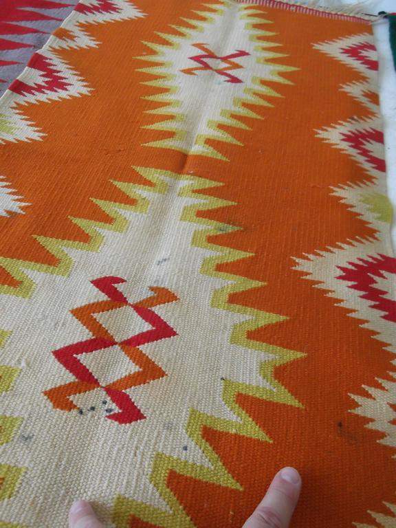 11 Antique Germantown Navajo Native American Indian Sampler Rug Weavings For Sale 4