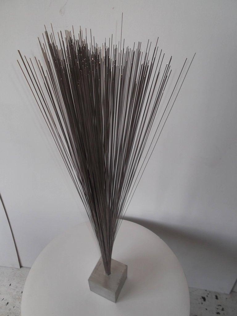 Vintage Modern Metal Spray Sculpture in the Style of Harry Bertoia For Sale 3