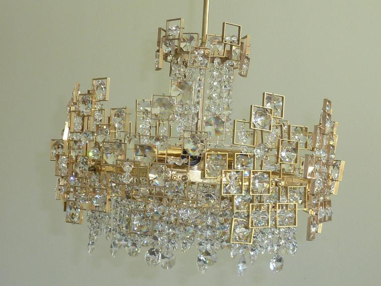 Austrian Geometric Lobmeyr Chandelier For Sale
