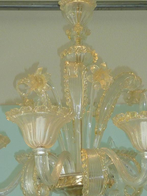 Louis XV Amazing Murano Chandelier by Cesare Toso - Italy For Sale