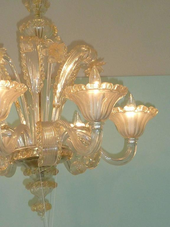 Italian Amazing Murano Chandelier by Cesare Toso - Italy For Sale