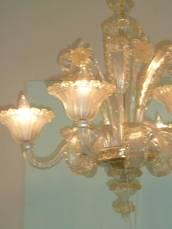 Mid-20th Century Amazing Murano Chandelier by Cesare Toso - Italy For Sale