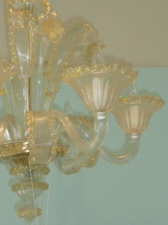 Metal Amazing Murano Chandelier by Cesare Toso - Italy For Sale