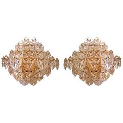 Impressive Pair of Kinkeldey Crystal Sconces