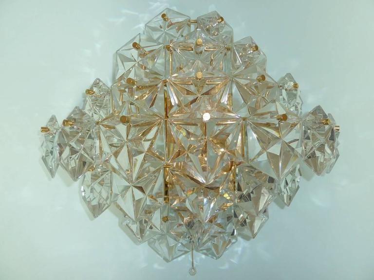 German Impressive Pair of Kinkeldey Crystal Sconces For Sale