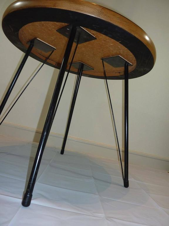 Mid-20th Century Pink and Black Mid-Century Rockabilly Dining Table For Sale