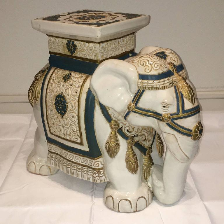 Elephant Garden Stool or Side Table For Sale at 1stdibs