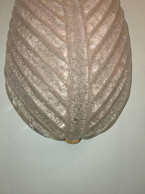 Mid-20th Century Single Italian Murano Glass Leaf Form Wall Sconce For Sale
