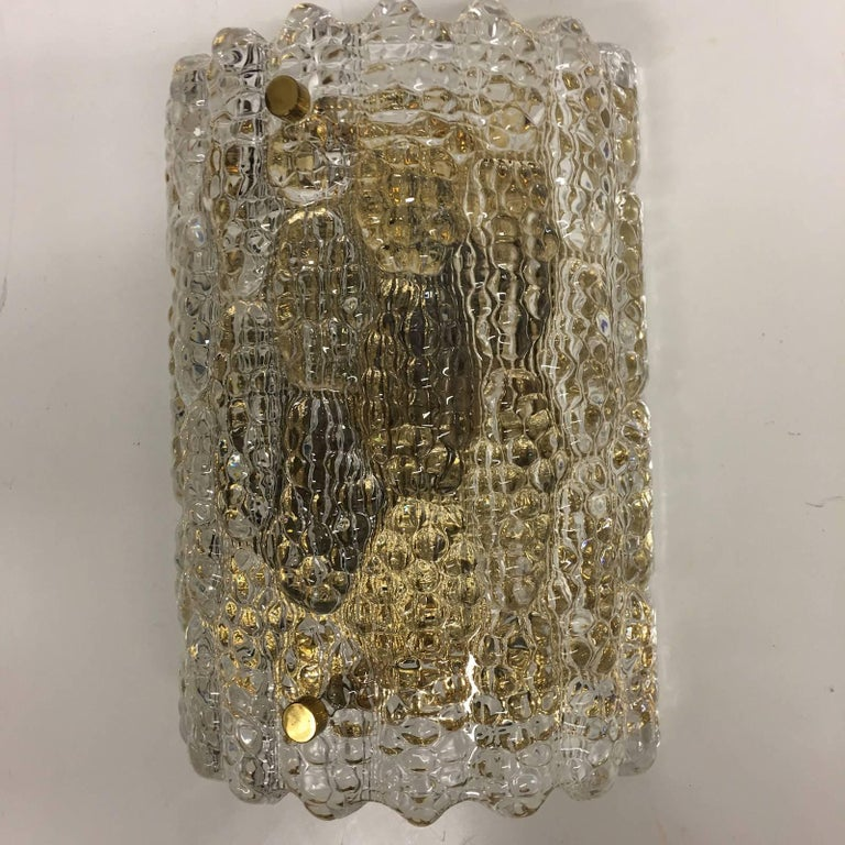 Three Carl Fagerlund for Orrefors Glass Wall Sconces In Good Condition For Sale In Dallas, TX