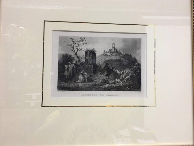 Set of Four Framed 18th Century German Copper Engravings For Sale 3