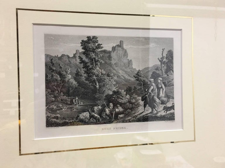 Set of Four Framed 18th Century German Copper Engravings In Good Condition For Sale In Frisco, TX