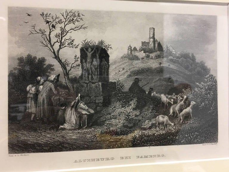 Set of Four Framed 18th Century German Copper Engravings For Sale 5