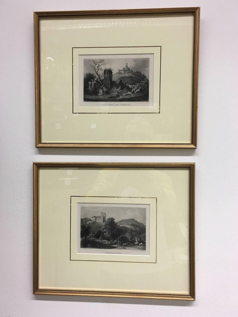 Set of Four Framed 18th Century German Copper Engravings For Sale 2