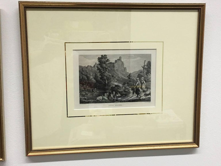 18th Century Set of Four German Framed Copper Engravings For Sale