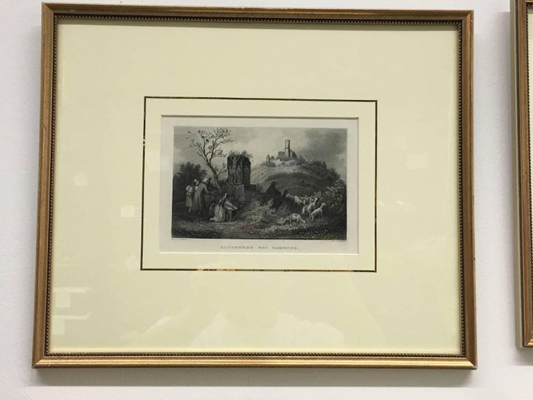 An extraordinary collection of fine prints , painted by L. Richter , engraved plates by various renowned artists such as Grey, Hincliff , Gruenerwald and Beyer showing breathtaking views of various towns, mountainous landscapes historical views.