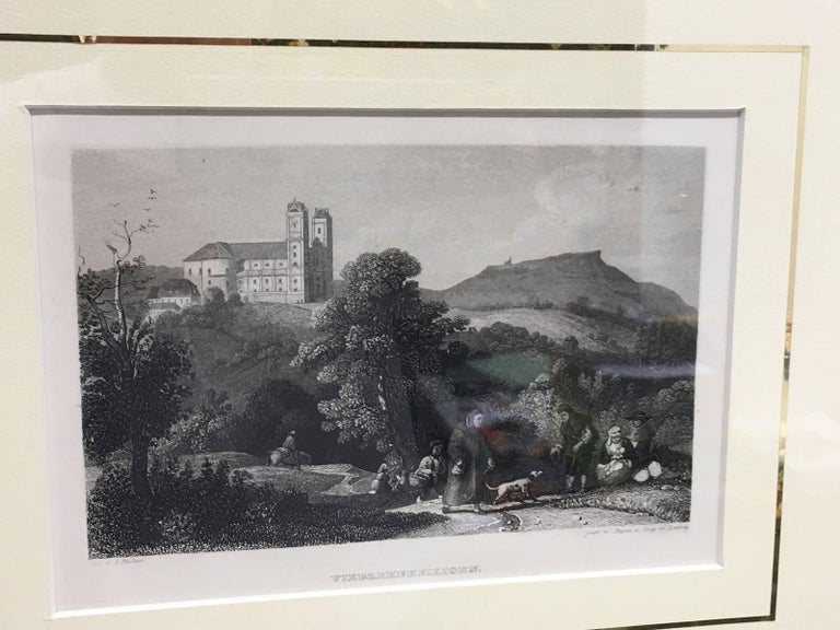 Set of Four German Framed Copper Engravings For Sale 5