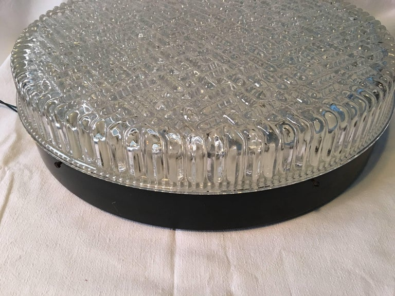 Huge Bubble Glass Flush Mount in the Staff Style 1960s In Good Condition For Sale In Frisco, TX