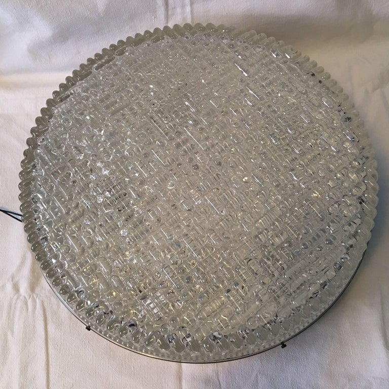 Huge Bubble Glass Flush Mount in the Staff Style 1960s For Sale 1