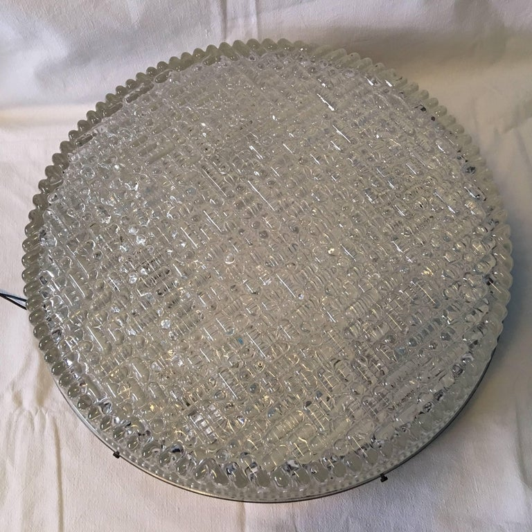 Huge Bubble Glass Flush Mount in the Staff Style 1960s For Sale 2