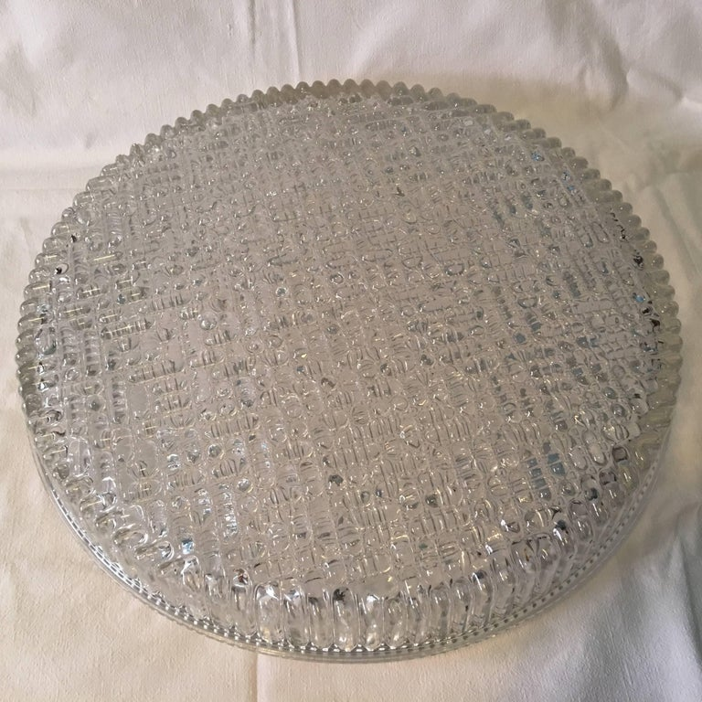 Huge Bubble Glass Flush Mount in the Staff Style 1960s For Sale 7